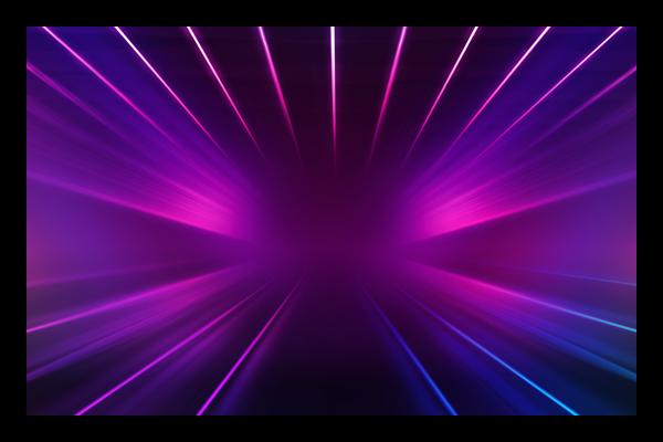 Purple Streams of IR Light