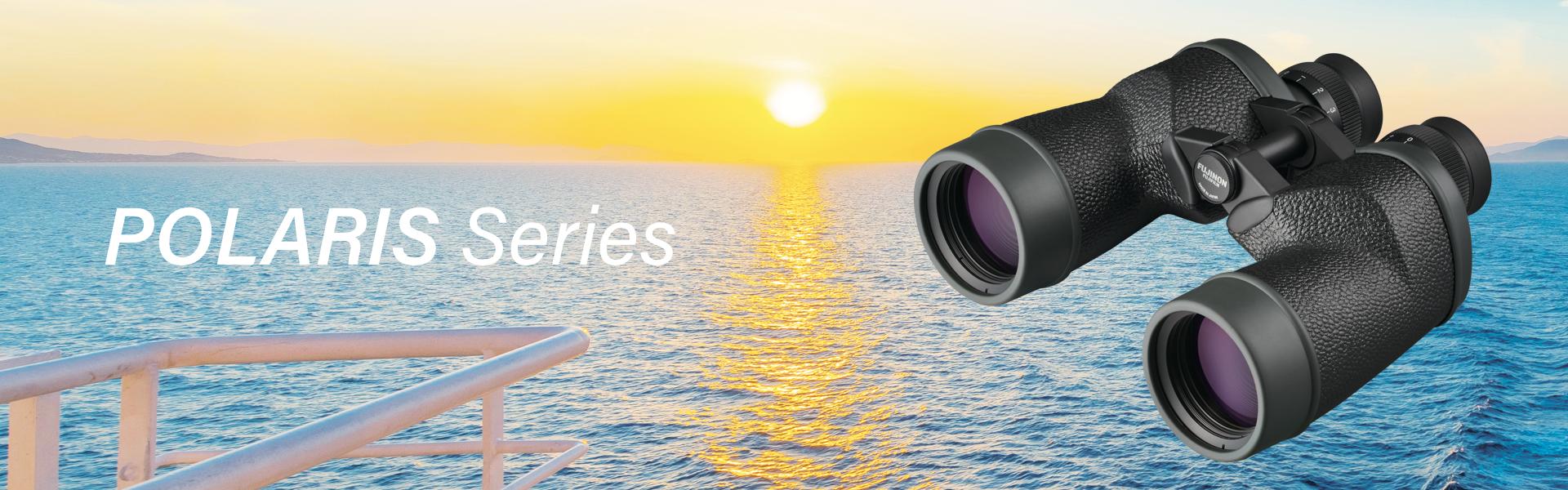 Polaris Series binocular over ocean at sunset