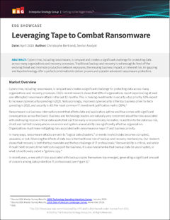 ESG SHOWCASE - Leveraging Tape to Combat Ransomware