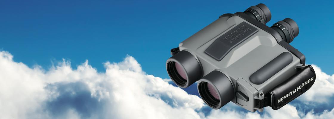 Stabiscope binocular over blue sky