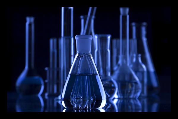 Collection of scientific glassware