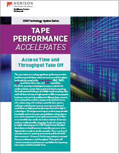 Tape Performance Accelerates