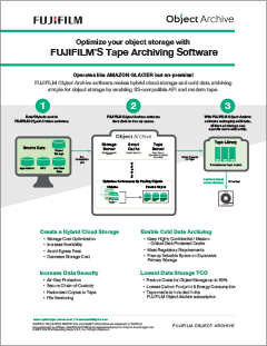 FUJIFILM's Tape Archiving Software