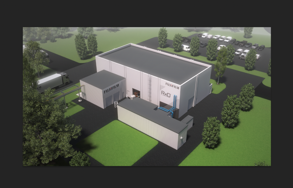 Rendering of the new production plant for pigment dispersions
