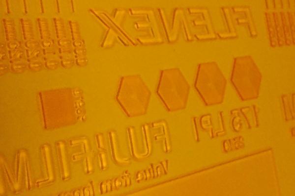 [photo] Close-up view of a flenex plate