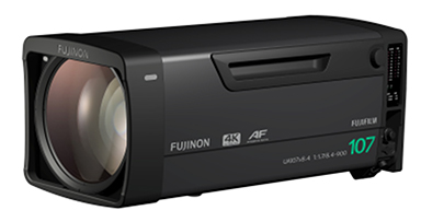"""[image]4K-compatible broadcast zoom lens """"FUJINON UA107×8.4BESM AF"""""""