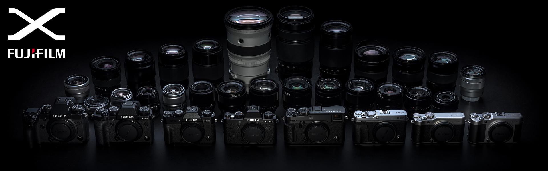 [photo] Assorted Fujifilm X system digital cameras and lenses