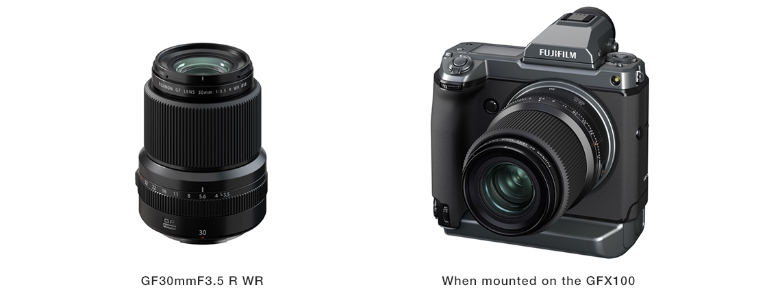 [Photo]GF30mmF3.5 R WR,When mounted on the GFX100