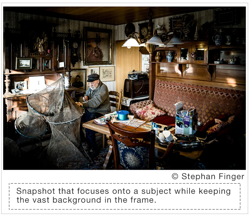 [Image]Snapshot that focuses onto a subject while keeping the vast background in the frame.