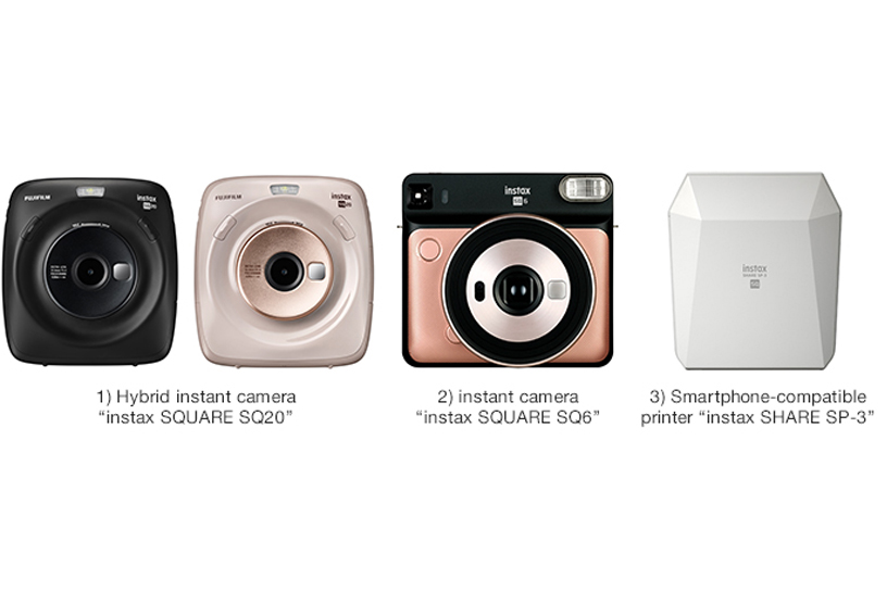 "[Photo]""instax SQUARE Series"" of instant cameras"