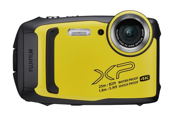 [photo] Fujifilm FinePix yellow digital camera