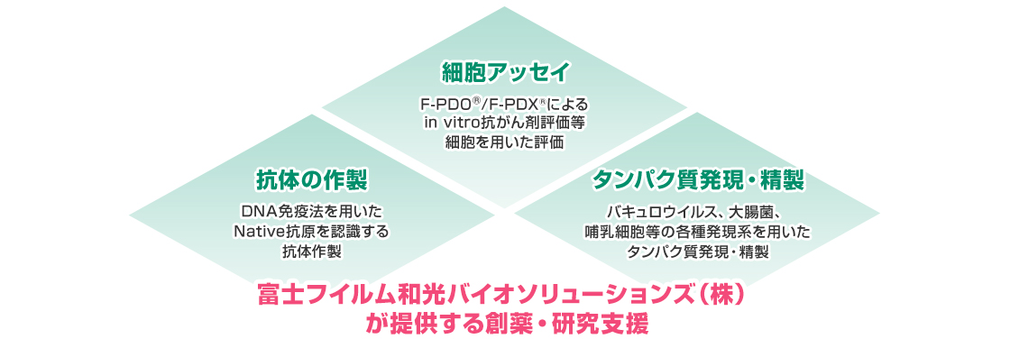 [画像]富士フイルム和光バイオソリューションズ(株)が提供する創薬・研究支援
